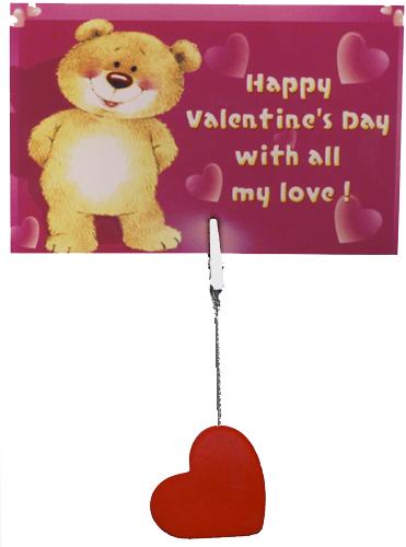 Valentin képtartó csipesszel