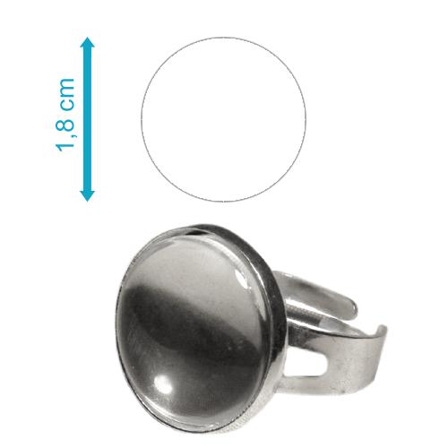 Ezüst színű kör gyűrű - GY10