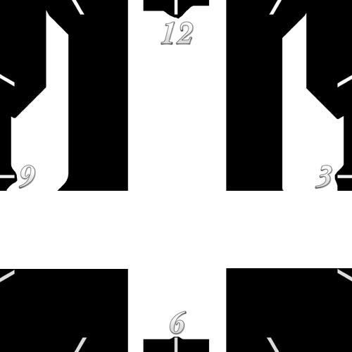 Plexi óra - 25x25 cm