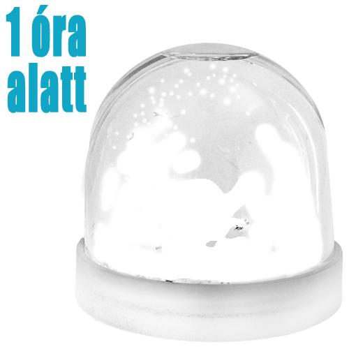 Fényképes Hópehely Hógömb - 1 óra alatt