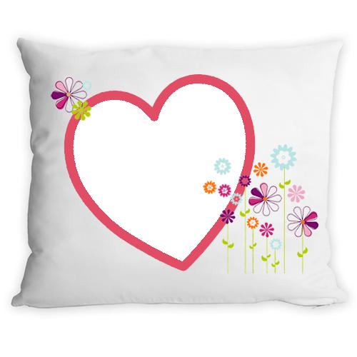 Fényképes ajándéktárgy2014 - Virág Szíves Párna