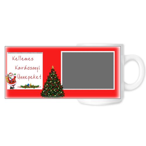 Fényképes ajándéktárgyKarácsonyi Fehér Bögre - Teljes palást