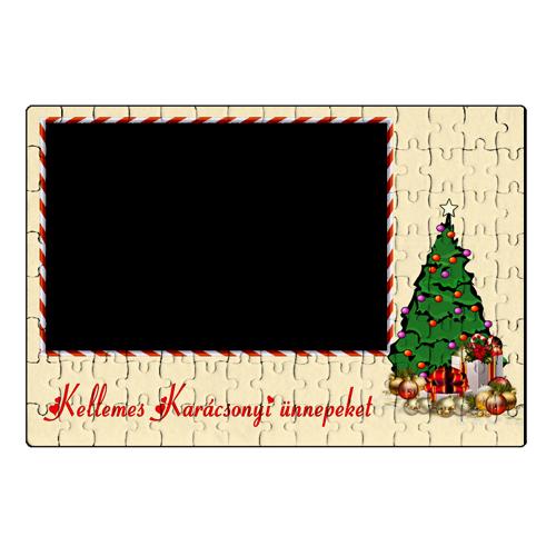 Fényképes ajándéktárgyKarácsonyi Puzzle - 20 x 30 cm - 120 db - P1