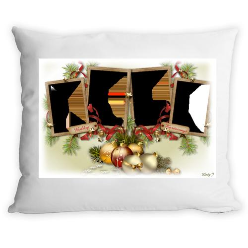 Fényképes ajándéktárgyKarácsonyi Keretes Párnahuzat + Párna