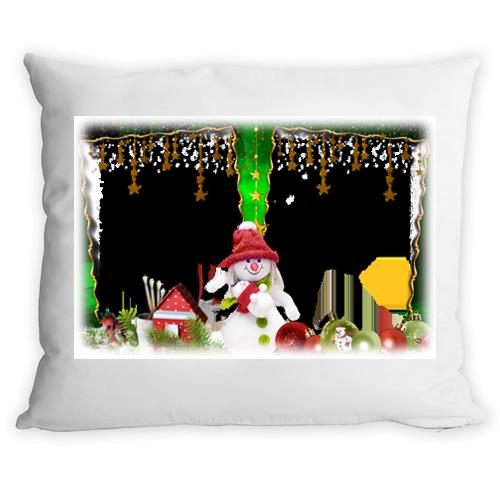 Fényképes ajándéktárgyKarácsonyi Párna - Hóemberes
