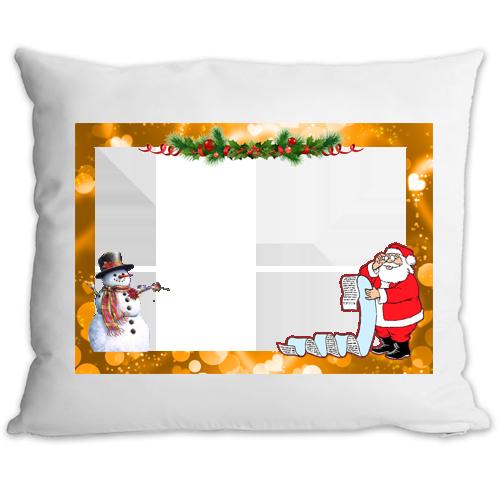 Fényképes ajándéktárgyKarácsonyi Párna Egyedi fényképpel