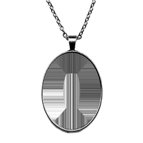 Fényképes ajándéktárgyAntikolt ezüst színű medál lánccal - M10