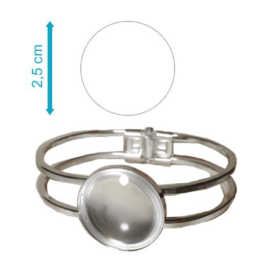 Fényképes ajándéktárgyEzüst színű karperec - K03