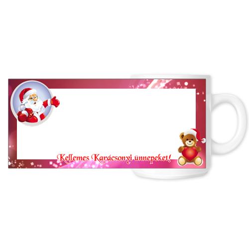 Fényképes ajándéktárgyKarácsonyi Bögre - 06