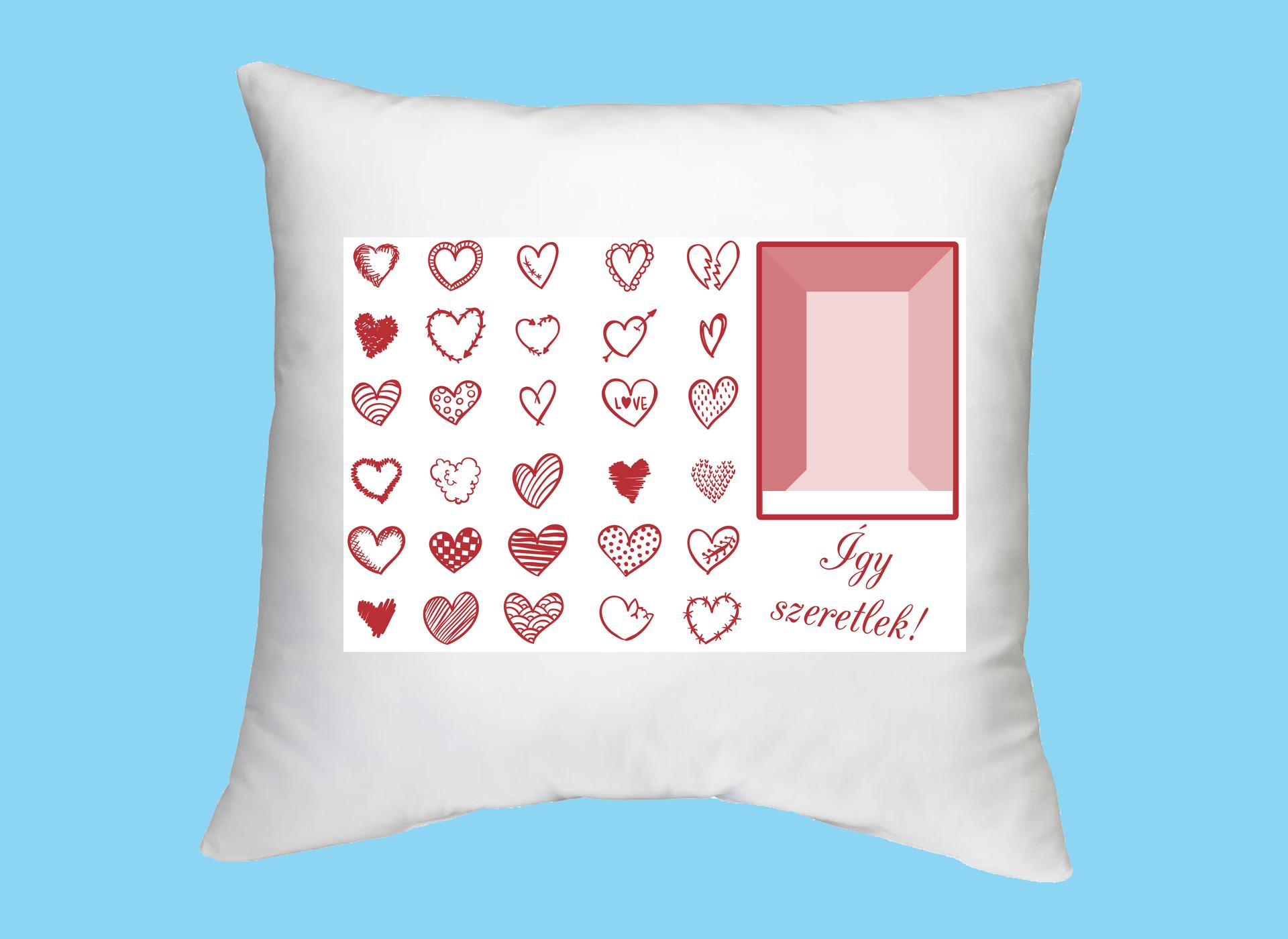 Fényképes ajándéktárgyÍgy szeretlek - Valentin párna