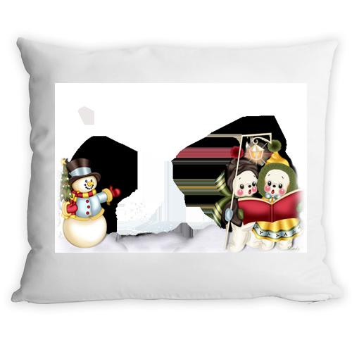 Fényképes ajándéktárgyKarácsonyi Hóemberes Párnahuzat + Párna