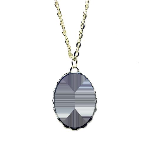Fényképes ajándéktárgyEzüst színű csipkés medál lánccal - M08