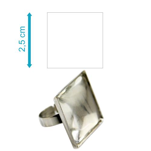 Fényképes ajándéktárgyAntikolt ezüst színű négyzetes gyűrű - GY04E