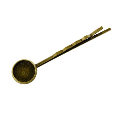 Fényképes ajándéktárgyAntikolt bronz színű hullámcsat - H01