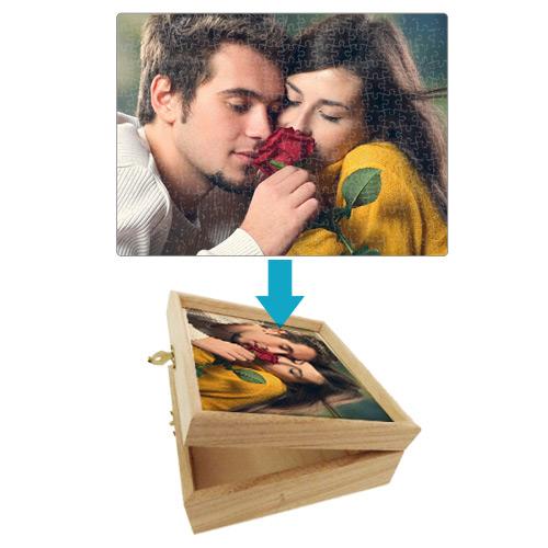 Fényképes ajándéktárgyA3 Puzzle - dobozzal