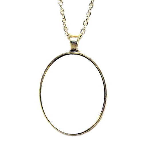 Fényképes ajándéktárgyAntikolt bronz színű medál lánccal - M06