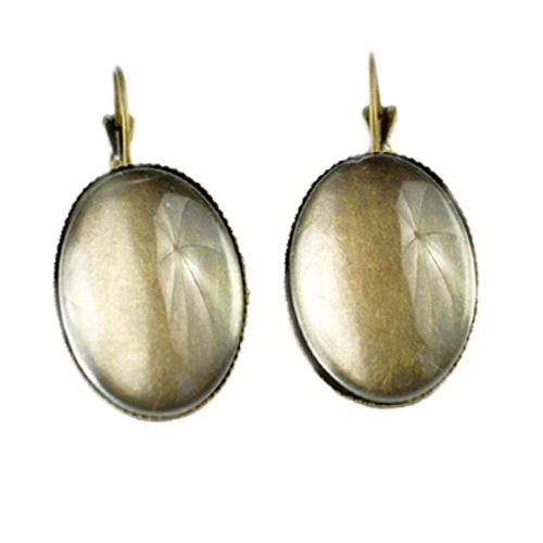 Fényképes ajándéktárgyAntikolt bronz színű fülbevaló - F02