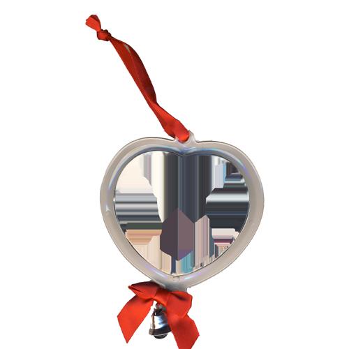 Fényképes ajándéktárgySzív Alakú Karácsonyfadísz