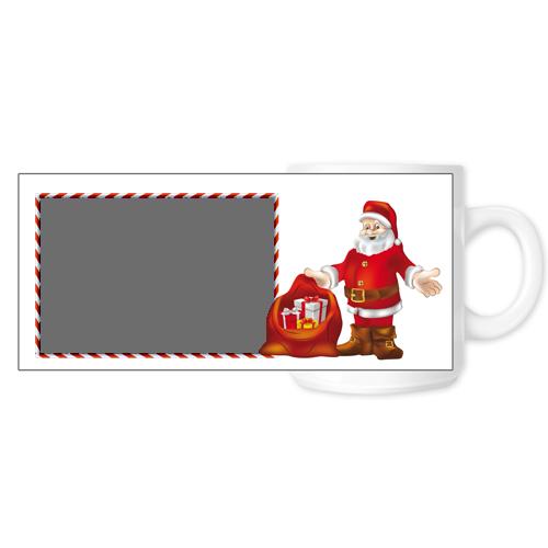 Fényképes ajándéktárgyFehér Bögre Karácsonyi Minta 12 - Teljes palást