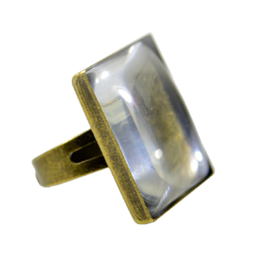 Fényképes ajándéktárgyAntikolt bronz négyzetes gyűrű - GY04