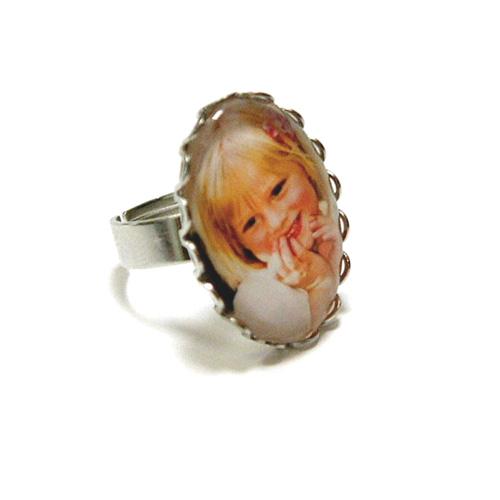 Fényképes ajándéktárgyAntikolt ezüst színű csipkés gyűrű - GY06