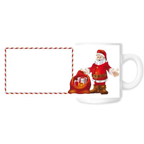 Fényképes ajándéktárgyKarácsonyi Fehér Bögre - Teljes palást - B7