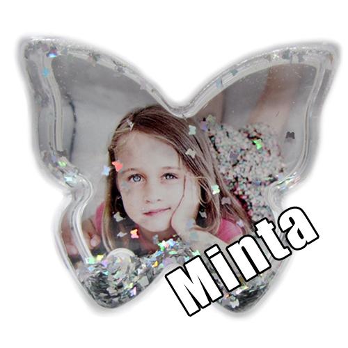 Pillangó Hógömb - ezüst