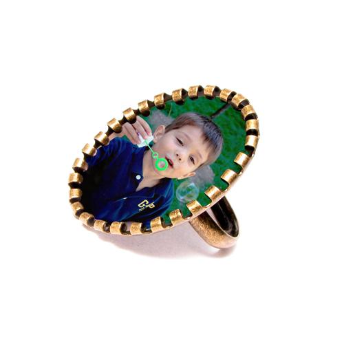 Fényképes ajándéktárgyAntikolt Bronz gyűrű - GY07