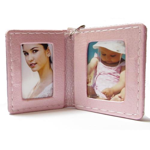 Fényképes ajándéktárgyMűbőr Pink Kulcstartó