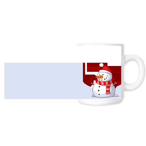 Fényképes ajándéktárgyFehér Bögre Karácsonyi Minta 13 - Teljes palást