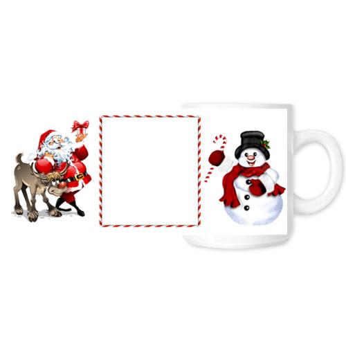 Fényképes ajándéktárgyKarácsonyi Fehér Bögre - Teljes palást - B5