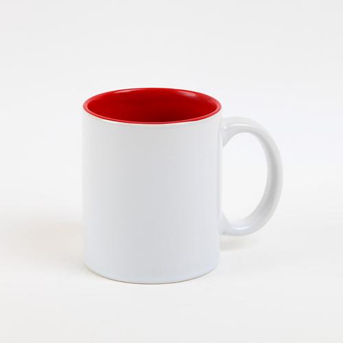 Fényképes ajándéktárgyFehér bögre - piros belsővel
