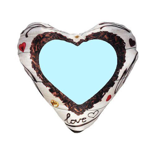 Csokoládé mintás szív párna