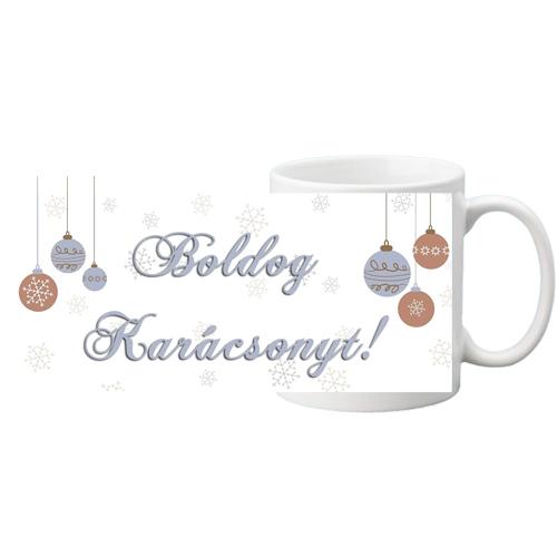 Fényképes ajándéktárgyFehér bögre - Boldog Karácsonyt 4
