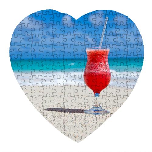 Szív alakú puzzle - 75db
