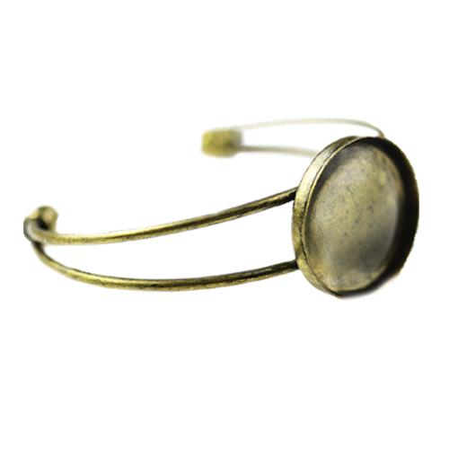 Fényképes ajándéktárgyAntikolt bronz színű karperec - K02