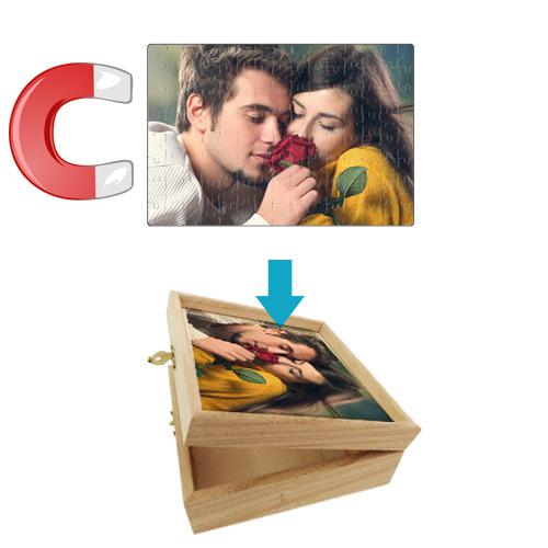 Fényképes ajándéktárgyA4  Mágneses Puzzle - dobozzal
