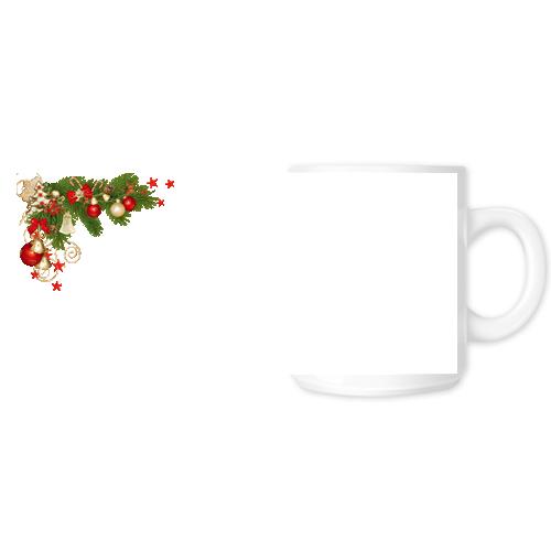Fényképes ajándéktárgyFehér Bögre Karácsonyi Minta 14 - Teljes palást