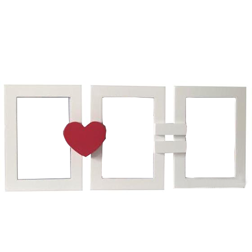 Fényképes ajándéktárgySzívecskés Képkeret 3 darabos 10x15