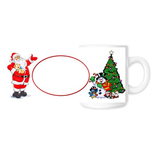 Fényképes ajándéktárgyKarácsonyi Fehér Bögre - Teljes palást - B6