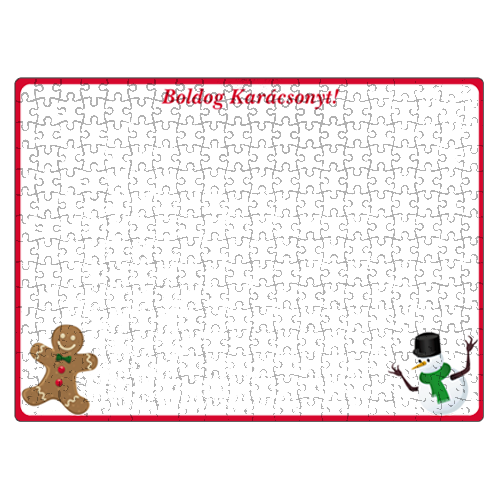 Fényképes ajándéktárgyKarácsonyi Puzzle - 29 x 40 cm - 300 db