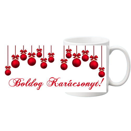 Fényképes ajándéktárgyFehér bögre - Boldog Karácsonyt 2