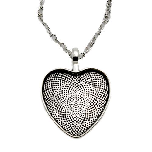 Ezüst szív medál M25