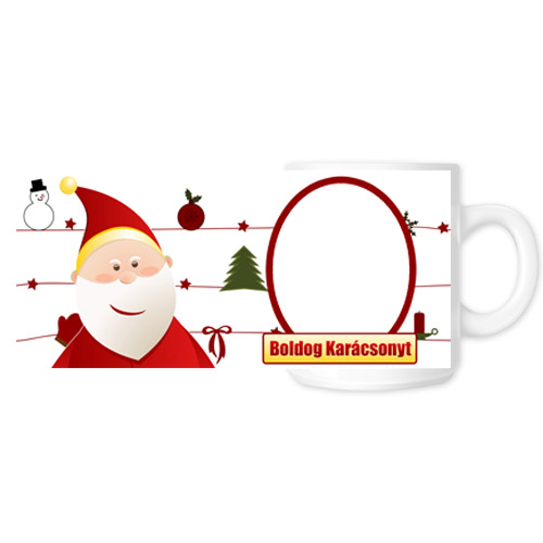 Fényképes ajándéktárgyKarácsonyi Bögre