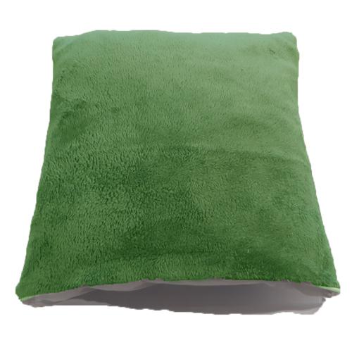 Zöld Plüss Párnahuzat + Párna
