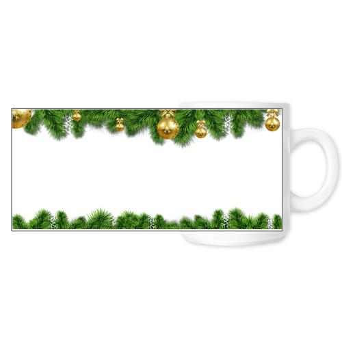 Fényképes ajándéktárgyFehér Bögre Karácsonyi Minta 6 - Teljes palást