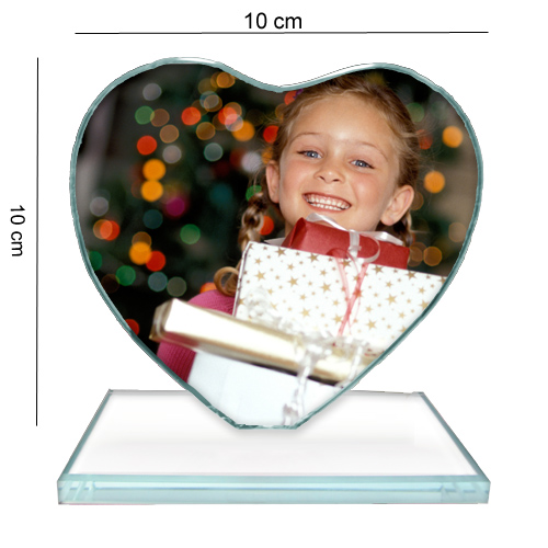 Fényképes ajándéktárgyKis Szív Üvegkristály