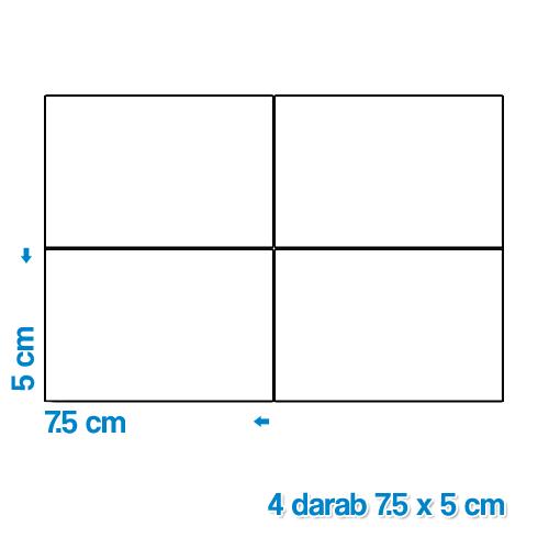 Fényképes ajándéktárgyÖntapadós Matrica 7,5 x 5 cm 4 darab