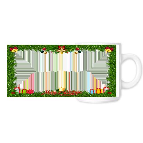 Fényképes ajándéktárgyFehér Bögre Karácsonyi Minta 11 - Teljes palást
